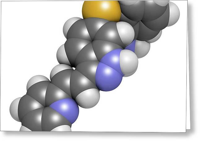 Axitinib Cancer Drug Molecule Greeting Card by Molekuul