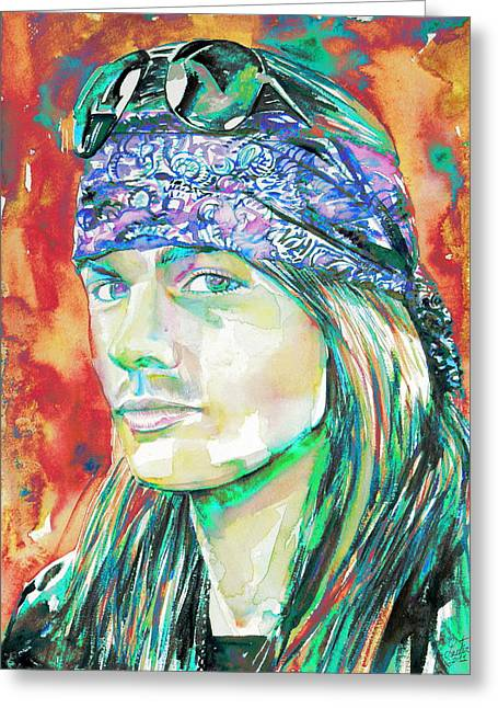 Axl Rose Portrait.2 Greeting Card