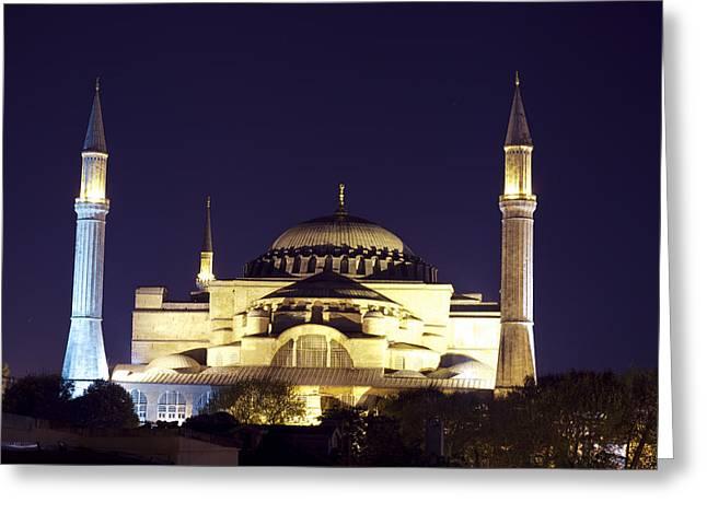 Aya Sophia In Istanbul Turkey Greeting Card by Raimond Klavins