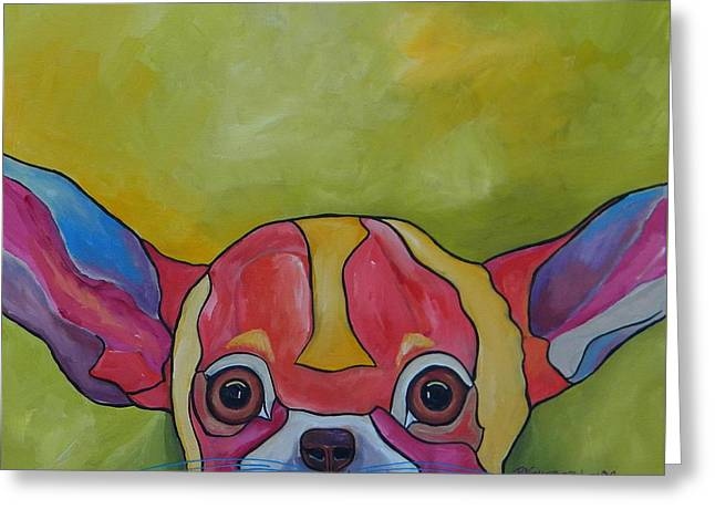 Aye Chihuahua Greeting Card by Patti Schermerhorn