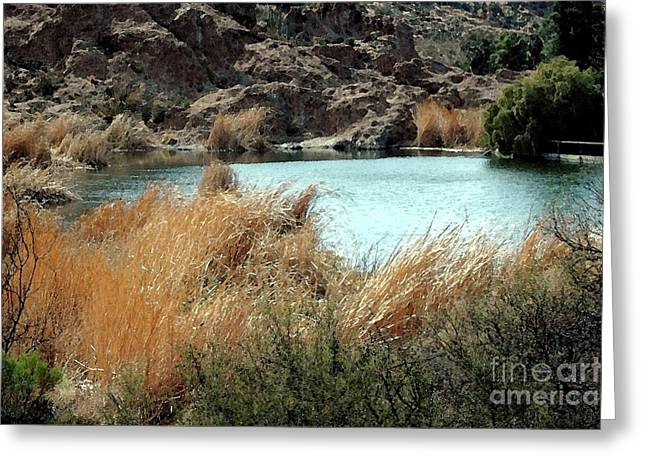 Ayer Lake Greeting Card by Kathleen Struckle