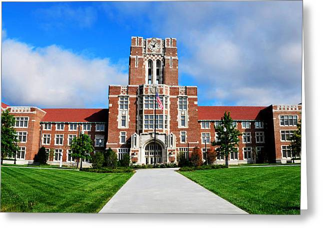 Greeting Card featuring the photograph Ayres Hall by Paul Mashburn