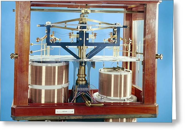 Ayrton-jones Ampere Balance Greeting Card by Science Photo Library