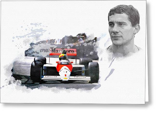 Ayrton Senna Genius Greeting Card