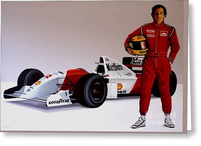 Ayrton Senna Greeting Card by Paul Meijering