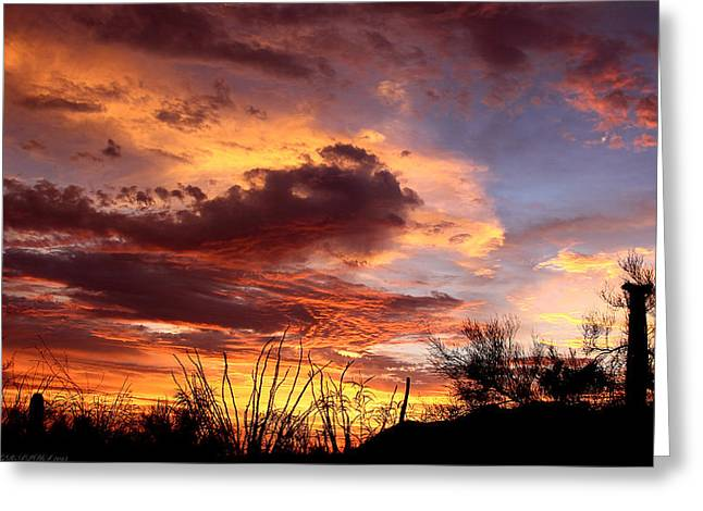 Az Monsoon Sunset Greeting Card