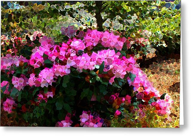 Azalea Greeting Card by Terence Morrissey
