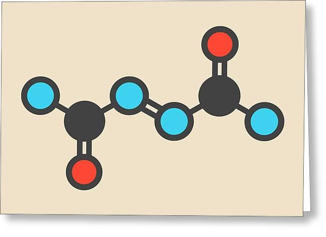 Azodicarbonamide Food Additive Molecule Greeting Card by Molekuul