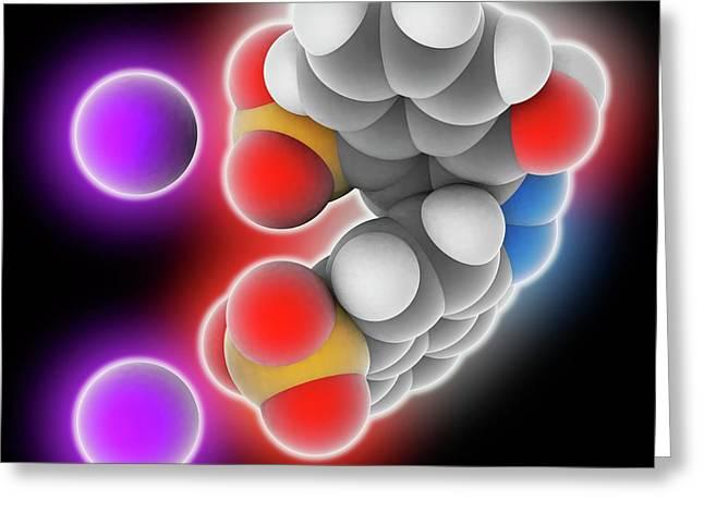 Azorubine Food Dye Molecule Greeting Card by Laguna Design