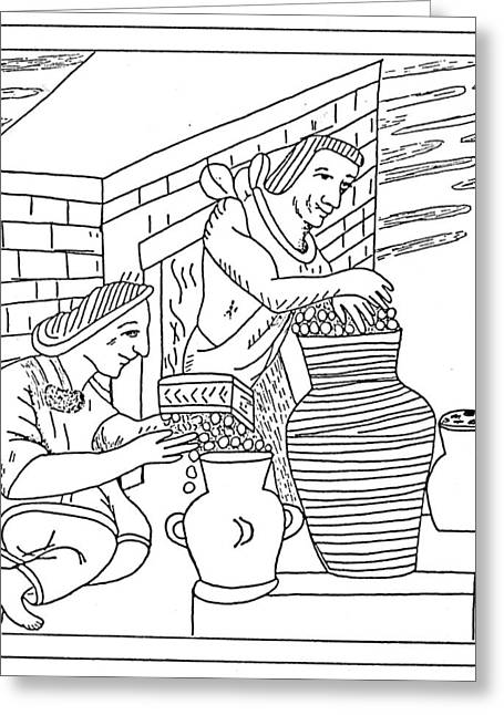 Aztec Farmers Greeting Card by Granger