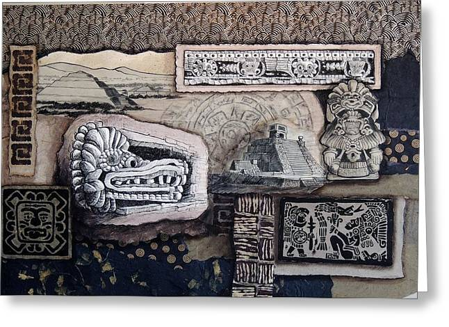 Aztec Images Greeting Card by Candy Mayer