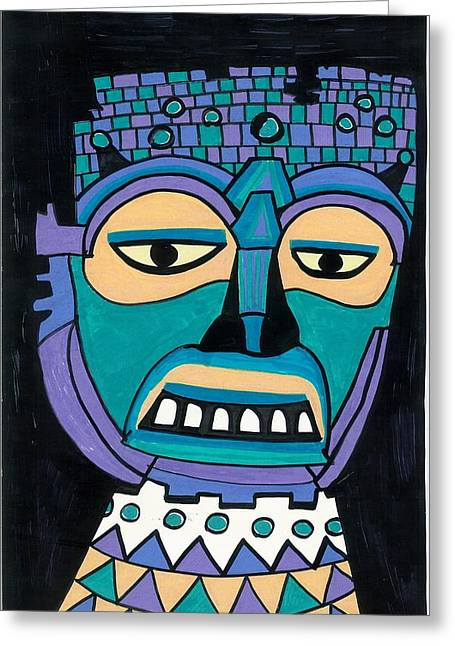 Aztec Mask Greeting Card