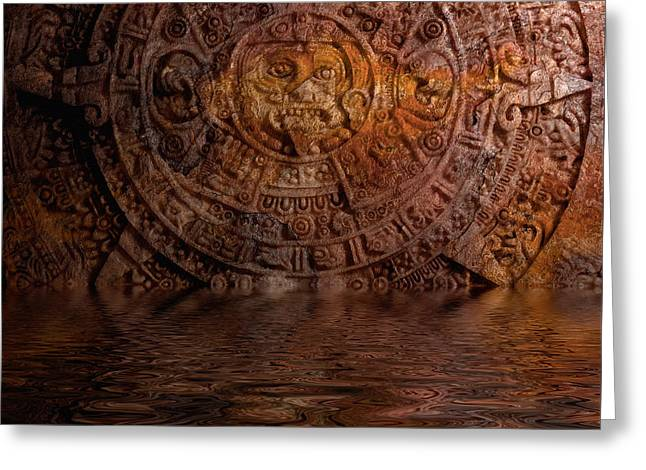 Aztec Sun Stone 2 Greeting Card