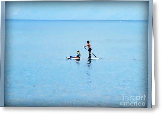 Greeting Card featuring the photograph Azure by Leslie Hunziker