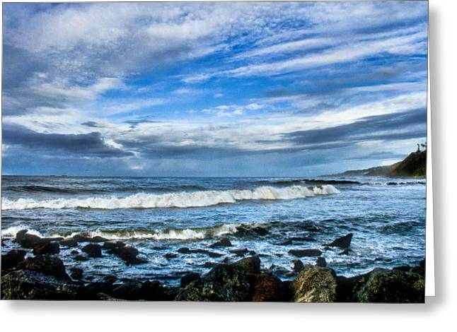 Greeting Card featuring the photograph Azure Seas by Joseph Hollingsworth