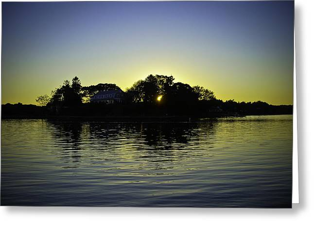 Azure Sunset At Onset Bay Greeting Card by LA Beaulieu