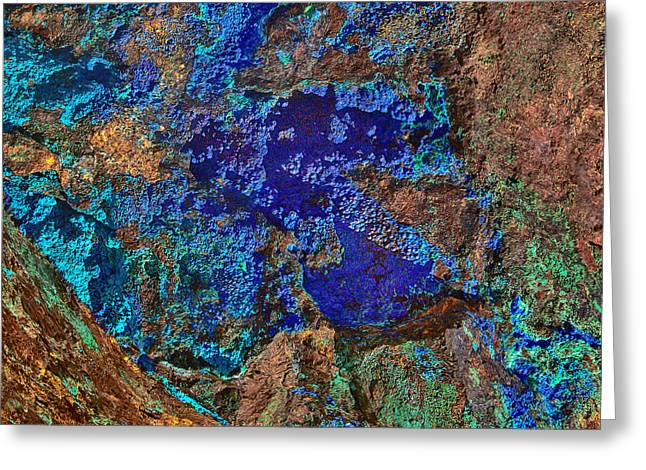 Azurite A Natural Abstracts In Nature Greeting Card by Bob and Nadine Johnston