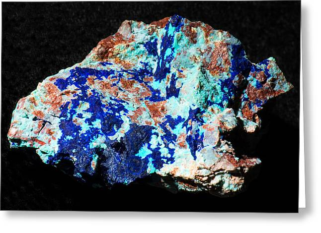 Azurite And Chrysocolla Greeting Card