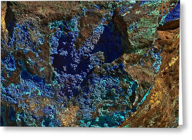 Azurite Greeting Card by Bob and Nadine Johnston