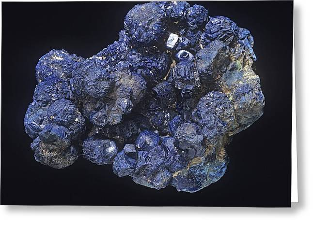 Azurite Greeting Card by Science Photo Library