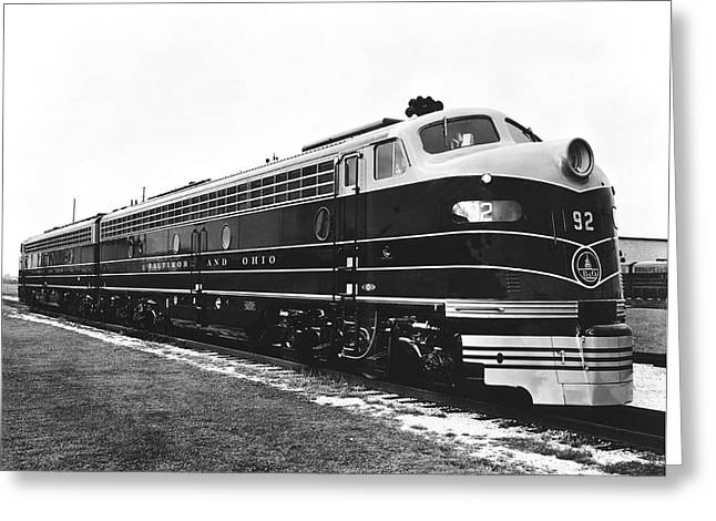 B & O New Diesel Engines Greeting Card by Underwood Archives
