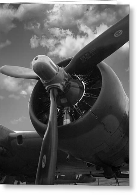 B-17 Engine Greeting Card