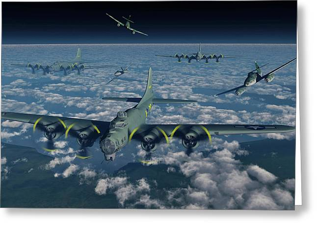 B-17 Flying Fortress Bomber Planes Greeting Card