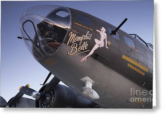 B-17 Flying Fortress Memphis Belle Dinny Janie Greeting Card