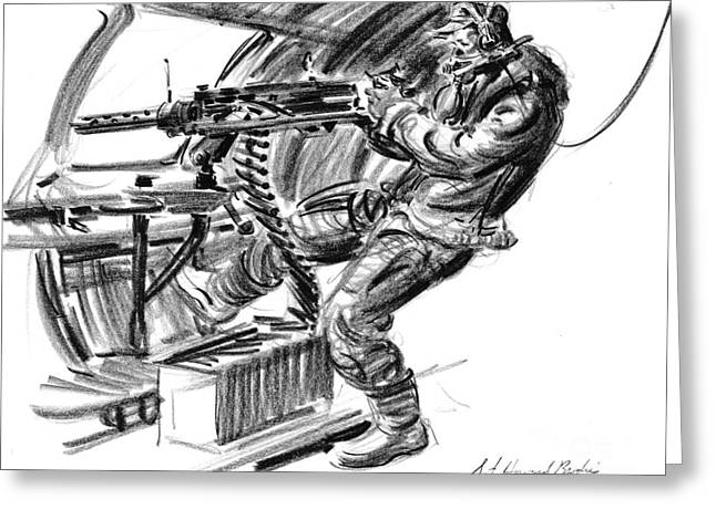B-17 Waist Gunner 1942 Greeting Card