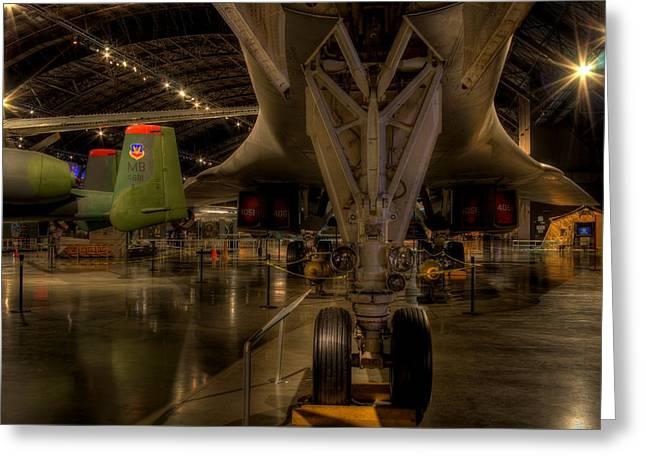 B-1b Wings Swept Greeting Card by David Dufresne