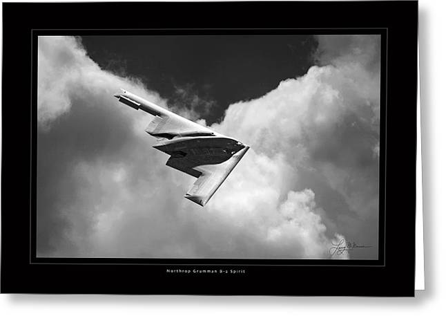 B-2 Spirit Greeting Card by Larry McManus