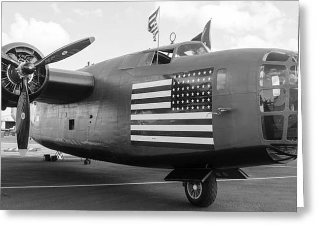 B-24 Liberator Greeting Card by Alan Marlowe