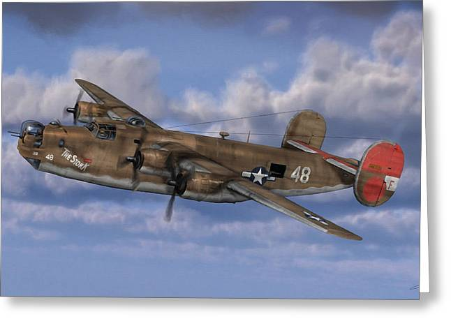 B-24 Liberator Greeting Card by Dale Jackson