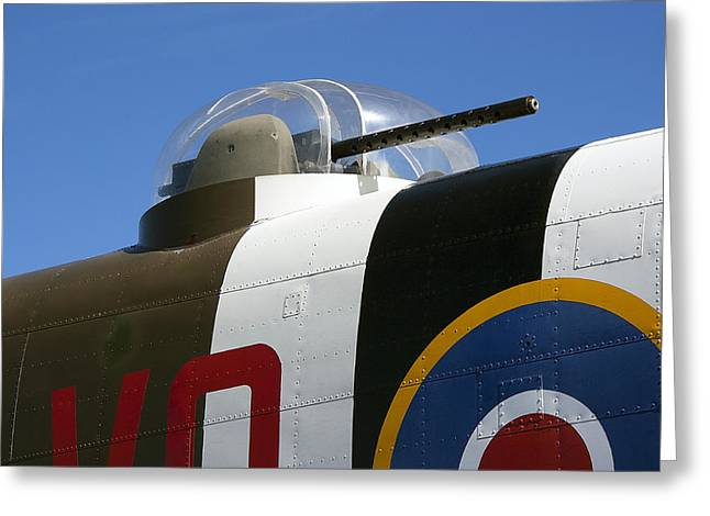 B-25 Bomber Machine Gun Turret Greeting Card by Daniel Hagerman