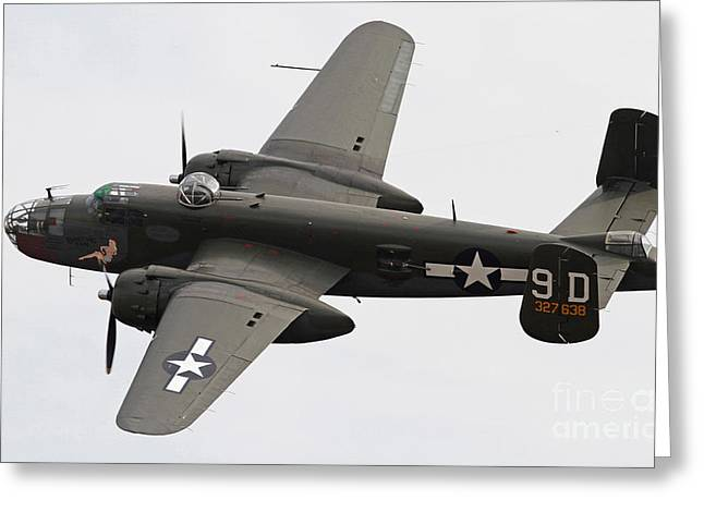 B-25 Mitchell Bomber Aircraft Greeting Card by Kevin McCarthy