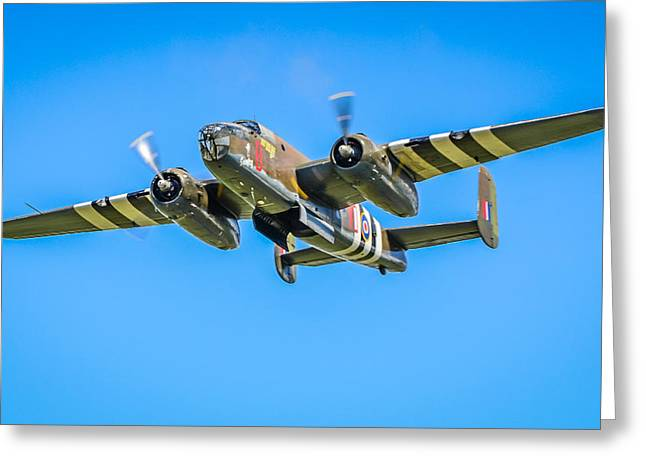B-25 Mitchell Bomber Greeting Card by Puget  Exposure