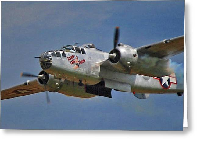 B-25 Take-off Time 3748 Greeting Card