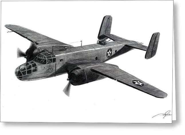 B-25b The Ruptured Duck Greeting Card by Dale Jackson