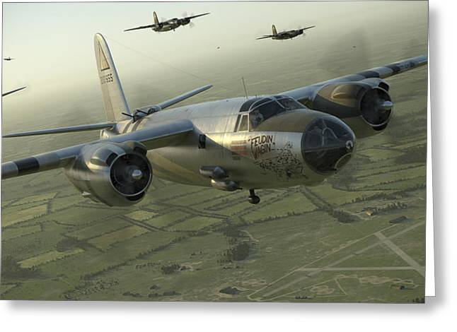 B-26 Feudin Wagin Greeting Card
