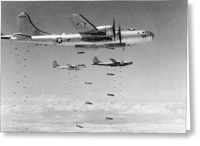 B-29s Dropping Bombs Greeting Card