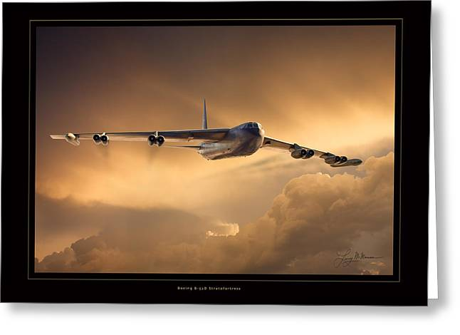 B-52d Greeting Card by Larry McManus
