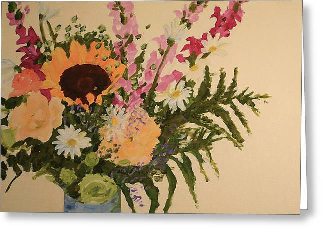 B-day Bouquet Greeting Card by Valerie Lynch
