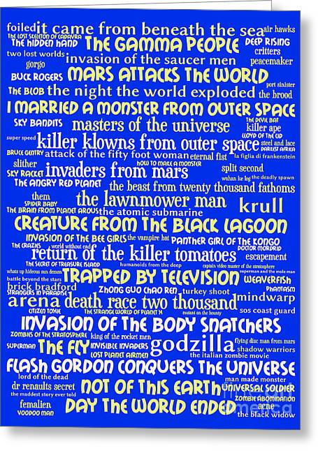 B Movies Science Fiction 20130627 Greeting Card