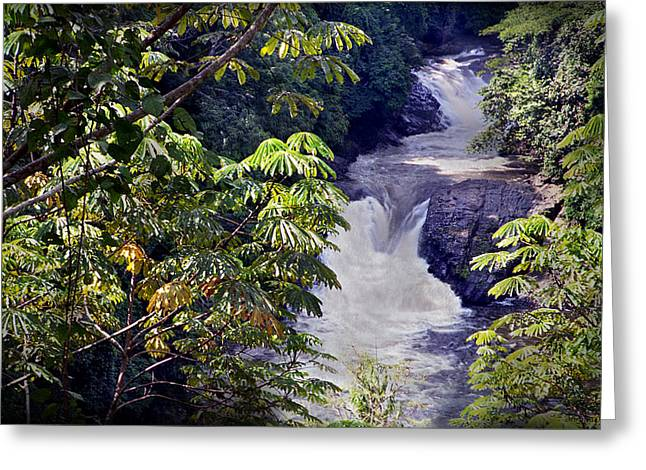 The Kwa Falls H Greeting Card