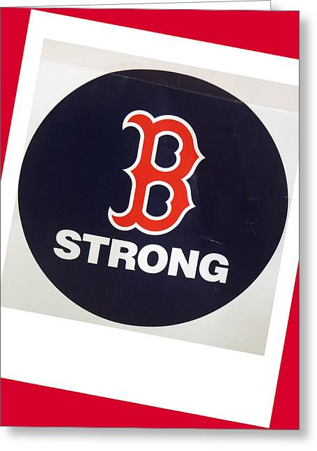 B Strong Red White And Blue Greeting Card