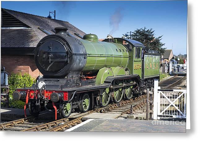 B12 Steam Loco 8572 Greeting Card by Simon Pocklington