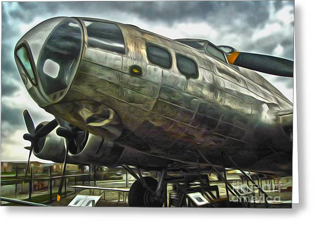 B17 Bomber Greeting Card by Gregory Dyer