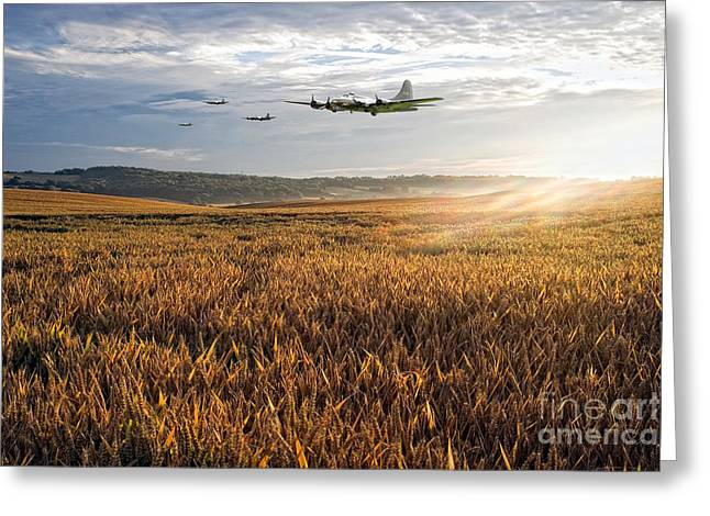 B17 Daylight Raid  Greeting Card by J Biggadike