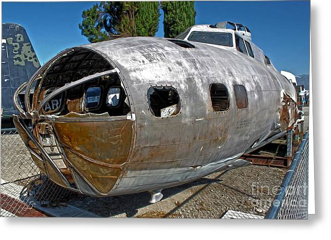 B17 Derelict Airplane - 01 Greeting Card by Gregory Dyer