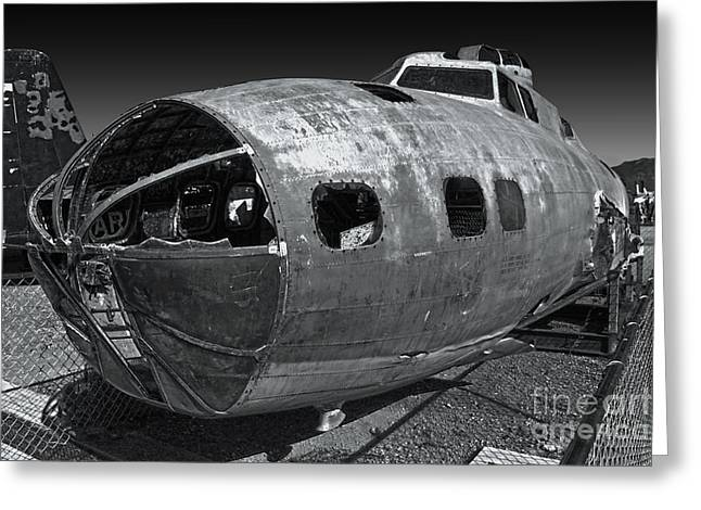 B17 Derelict Airplane - 02 Greeting Card by Gregory Dyer